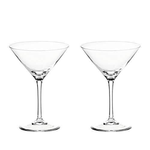 Leonardo Gin Cocktail-Gläser Set, 2 Stück, Cocktail-Glas mit Stiel, spülmaschinenfeste Cocktail-Kelche, Cocktail-Schalen, 2er Set, 200 ml, 069421
