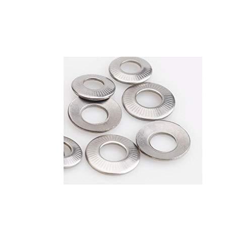 304 roestvrij staal, anti-slip wasmachine, vlinder/zadel enkelzijdig bloem tandenwasser, geteste anti-slip wasmachine, M16 (1 Capsule)