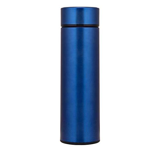 LKJJTG Botella de Agua aislada, Termo de matraz de vacío de Doble Pared, Pantalla de Temperatura LED Inteligente, Tazas de café para el hogar, 500 ml-Blue