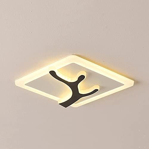 Wmdtr Luz de Techo Simple Moderna, lámpara de Techo Ligera de Tres Colores acrílico LED iluminación de Techo Integrado, Luces de Techo Interior para Villa Comedor Aisle Entrada de Pasillo