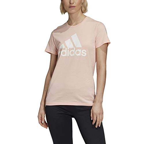 adidas Women's Must Haves Badge of Sport Tee, Haze Coral, X-Small