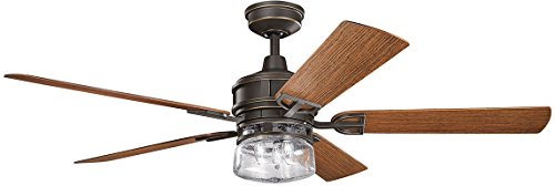 Kichler 310139DBK Lyndon Patio 52' Outdoor Ceiling Fan with...