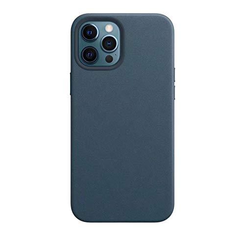DingHome Funda Oficial de Cuero para iPhone 12 Pro MAX Mini con Cubierta de Lujo Logo Shell para iPhone 11 Pro MAX 7 8 Plus XS MAX XR (Color : Midnight Blue, Material : For ipone 12Max)