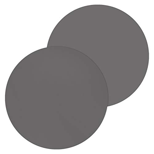 12 Inch Silicone Microwave Multi-Mat, Non-Stick Heat Resistant Oven Mat Microwave Trivet Mat - 2 Pack (Gray)