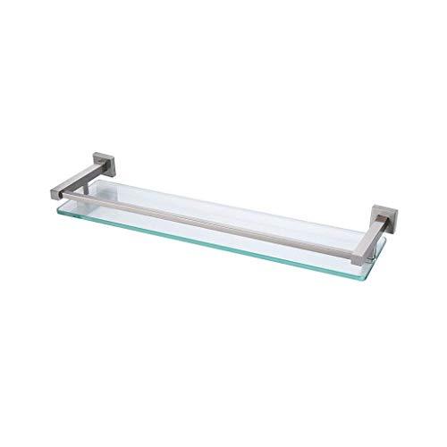 Bad glazen plank badkuip wand doucheplank douchebak en geborsteld SUS 304 roestvrij staal wandhouder
