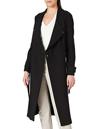 Armani Exchange Womens Fluid Trench Trenchcoat, Black, L