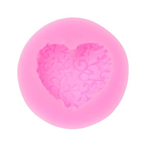 Liangjunjun, stampo 3D a forma di cuore, in silicone, ideale per creare cioccolatini fai-da-te e per la decorazione di torte.