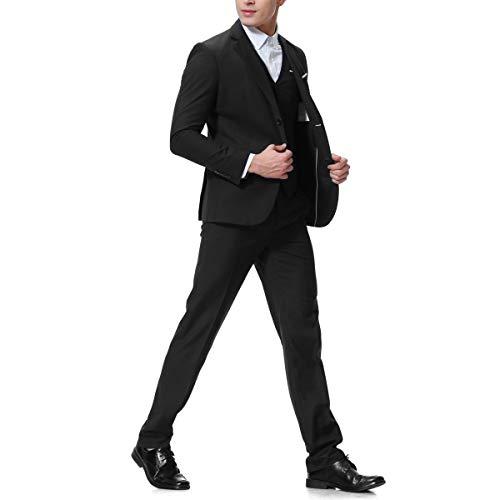 Cloudstyle-Mens-3-Piece-2-Buttons-Slim-Fit-Solid-Color-Jacket-Smart-Wedding-Formal-Suit