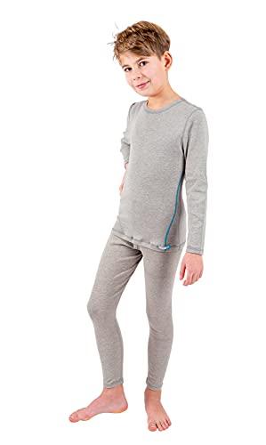 Silver25 - Mallas para niño con neurodermitis - Gris, gris, 146 cm-152 cm