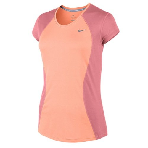 Nike Racer t-Shirt à Manches Courtes pour Femme, Sunset Glow/White/Silver 645443–832 Taille m