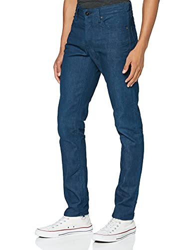 G-STAR RAW 3301 Straight Tapered Vaqueros, Blue 3D Raw Denim C829-1241, 27W / 32L para Hombre