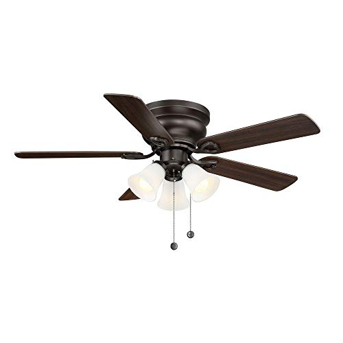Clarkston II 44 in. LED Indoor Oiled Rubbed Bronze Ceiling...