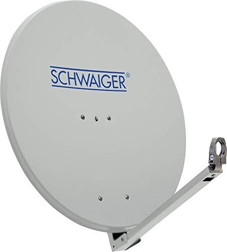 Schwaiger SPI710.0 Aluminium Offset Parabol-Antenne (75 cm) hellgrau