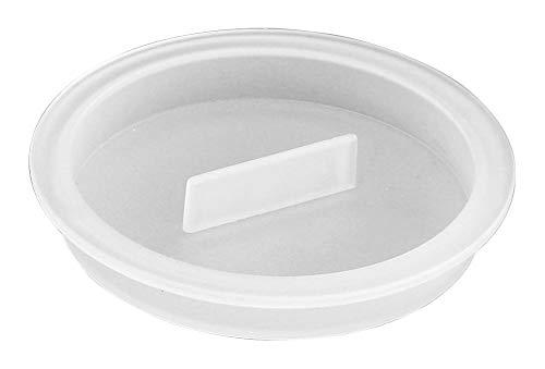 Home Xpert Vielzweck-Deckel, Universaldeckel, Joghurtdeckel, Glasdeckel, Dosendeckel, milchig-transparent weiß, rund, passt bis Ø 6,4 cm