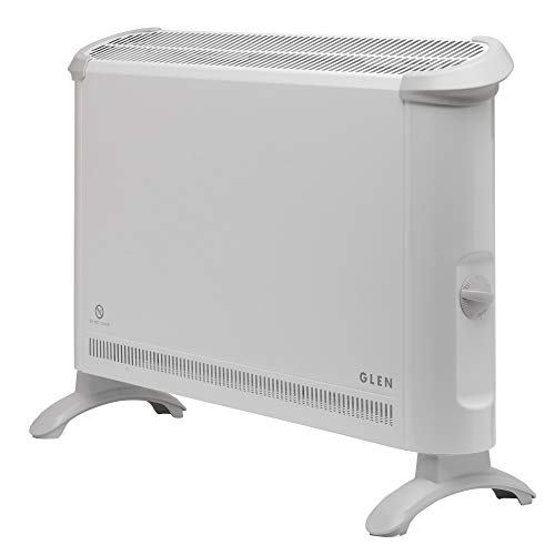 Glen Dimplex G2TN 2KW Convector Heater with Thermostat, 2000 W, White, Steel