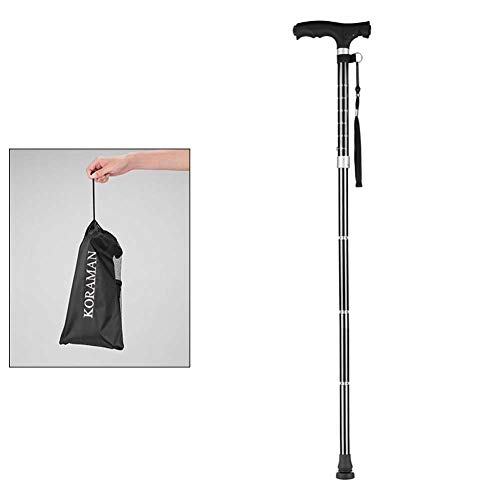 MOXIN Canne Pliable avec lumière LED réglable à 60 °, Balance de Canne légère et réglable, Très légère et Ajustable pour équilibre,onefoot