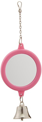Penn-Plax Round Mirror with Bell for Bird Cage