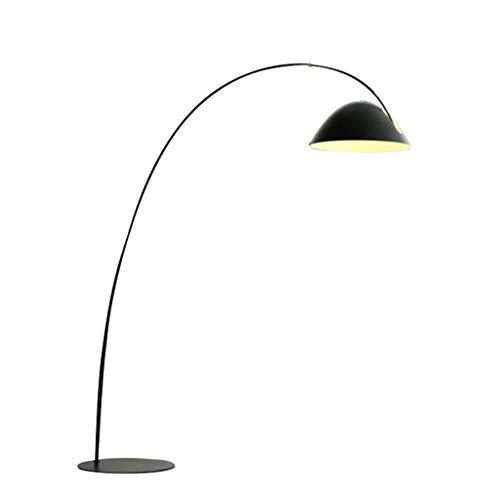 QTDH Minimalist Arc staande lamp met hangende schaduw, moderne verlichting voor achter de bank, hoge paal staan arching leeslamp