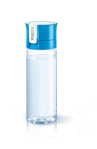BRITA Vital Botella de Agua Filtrada de 0,6 L con 1 Filtro Microdisc, De plástico, Azul/Transparente, 0.6 Litros