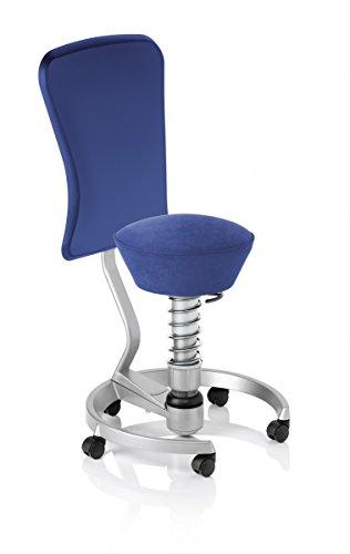 Swopper WORK ergonomischer 3D-Aktiv-Bürodrehstuhl Mikrofaser, Stoffmuster:Royal-Blau