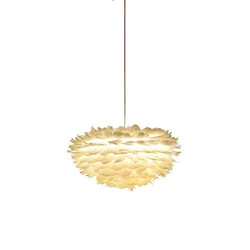 Romántico Lámparas Colgantes Lámpara De Araña Iluminación Colgante De Techo Para Dormitorio Comedor Accesorios De Fotografía,Pluma Techo Lámpara Colgante-Blanco 30cm