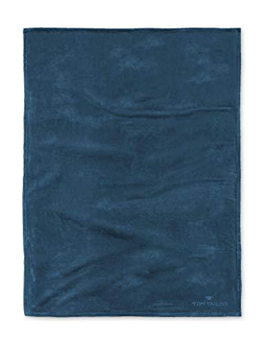 TOM TAILOR 0237798 Wohndecke Microfaser  1x 150x200 cm, blue bird