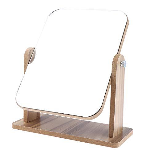 Amagogo Voyage Debout de Miroir de Rasage de Maquillage de Table Cosmétique Compacte Portative - 22x17 cm