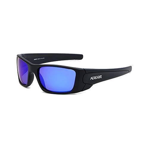 Lanrui Gafas de Sol for Las Mujeres protección UV400 del Deporte al Aire Casual Gafas de Sol de los Hombres de la Plaza TR90 Gafas Ciclismo Real película polarizada Pesca Espejo (Color : C)