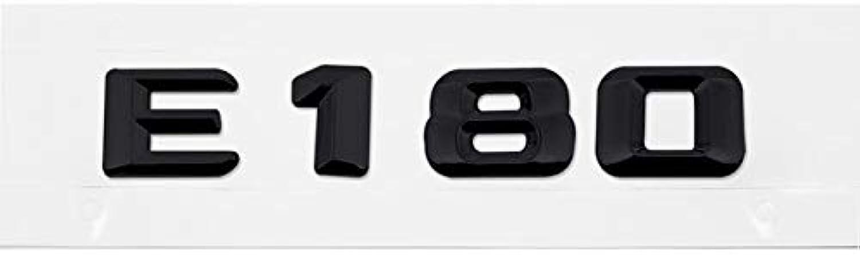 Car Sticker for Mercedes Benz AMG E Class E180 E180L E200 Mercedes Accessories W205 W211 W212 Benz 200 Auto Emblem Decal  (color Name  E180Black, Size  Plastic)