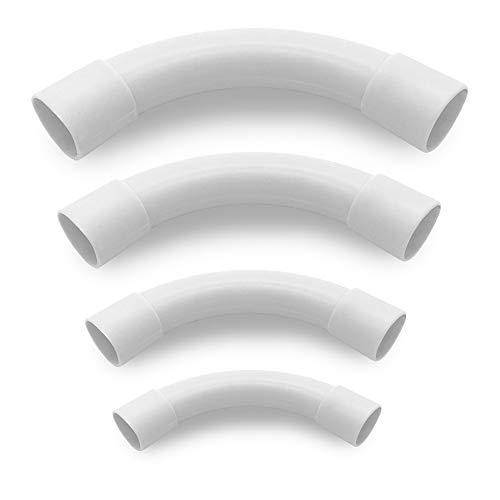 ARLI 10x Rohrbogen M20 90° für Elektrorohr Stangenrohr Leerrohr PVC Installation Rohr gemufft Kabelkanal Installations Haus Keller Wand Decken Montage Kabelrohr allzweck aller Art von Kabel 20 mm