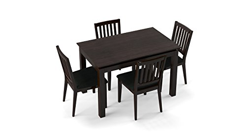 Urban Ladder Diner 4 Seater Dining Table Set with Upholstered Chairs