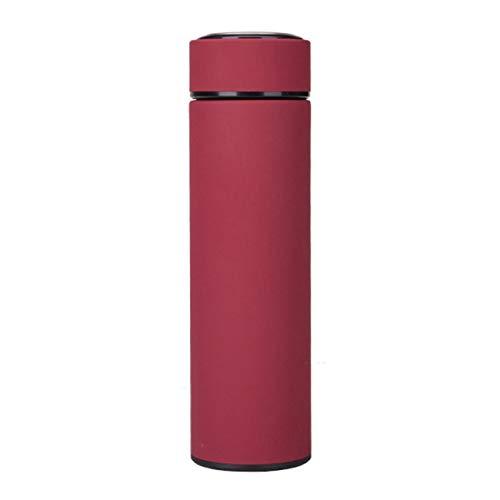 Ashley GAO Botella de acero inoxidable taza de viaje infusor de té botella de doble pared infundida termo de agua de grado alimenticio a prueba de fugas