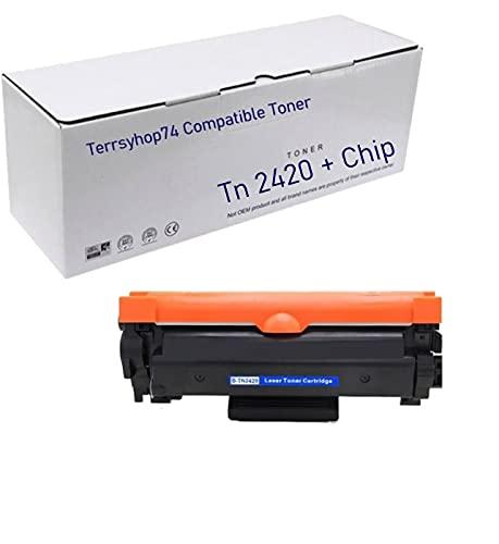 Toner Compatibile Brother TN-2420 TN2420 Cartucce di toner con Chip per MFC-L2710DW L2710DN L2730DW L2750DW, HL-L2310D L2350DW L2375DW L2370DN, DCP-L2510D L2530DW L2550DN (1 toner TN2420)