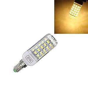 Grossartig E14 Dimmable 6W AC110V LED de Haute qualité Ampoule Blanc/Blanc Chaud 60 SMD 5730 de maïs Lampe (Color : Warm White E14)
