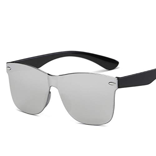 PrittUHU 2021 Occhiali da Sole One-Piece Donne/Uomo Lente di Gradiente Lente retrò Specchio Sunless Occhiali da Sole Vintage Viaggio Eyewear UV400 (Lenses Color : Silver)