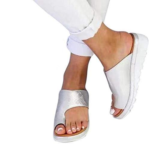 Damen-Sandalen Bunion Splints Sandaletten Bunion Corrector Plateausandalen Sommer Flip Flops,Komfortable für große Zehe Knochen Korrektur