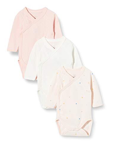 Petit Bateau 5649799 Conjunto de Ropa Interior para bebés y niños pequeños, Rosa Rosa/Multico Blanco, 6 Meses