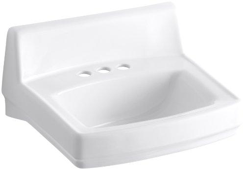 KOHLER K-2032-0 Greenwich Wall-Mount Bathroom Sink, White