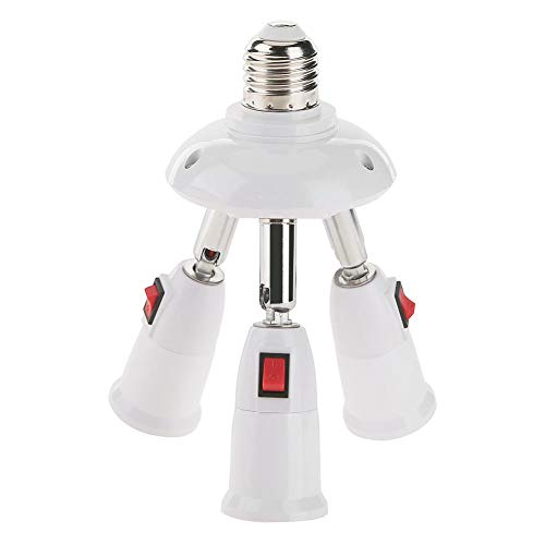 Domybest E27 Splitter 3/4 lampenkappen verstelbare LED-lamphouder adapter lamphouder sokkel E27 converter (3 koppen)