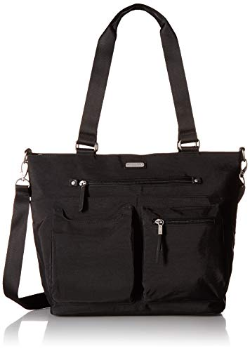 Baggallini Any Day Tote with RFID Phone Wristlet, Black