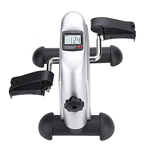 HGDM Pedales Estaticos,Pedaleador Estaticos,Mini Bicicleta Estáticas,Máquinas De Piernas,Ejercitador De Pedal para Entrenamiento De Brazos Y Piernas LCD Pantalla Y Resistencia Ajustable,Carga 100KG