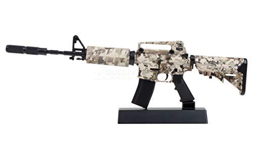 Ghost Miniatura - Mini réplica de Arma Decorativa de Metal con Soporte de presentación - para Recoger: Kit n °5 Rifle M4 Digital Camo