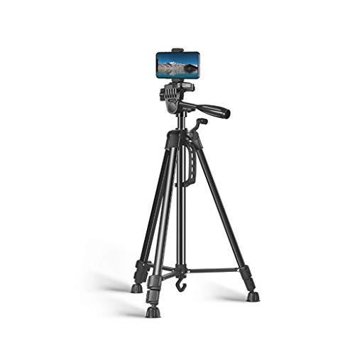 FEANG 59' trípode de cámara con Bolsa de Transporte, Ligero Viaje Profesional de Aluminio trípode con Soporte for teléfono Celular for el Recorrido/Fotografía (Color : A, tamaño : 150cm)