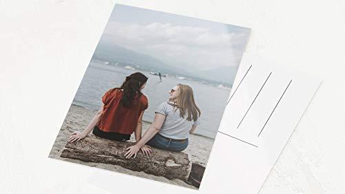 sendmoments Fotokarten im A6 Hochformat, personalisiert mit Ihrem eigenen Bild, senden Sie ganz individuelle Grüße, 5er-Postkarten Set, persönliche Grußkarten verschicken