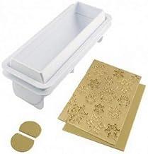 Frozen buche, Kit de 2 Soportes en plástico y 2 tapetes de Silicona, uno Liso y Otro con Tema Copos de Nieve