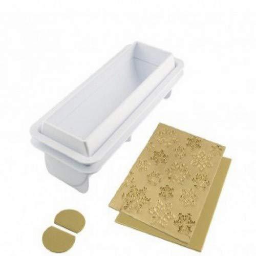 silikomart 25.071.63.0065 Moule Frozen Bûche, Silicone, Gris, 12 x 29,5 x 5 cm