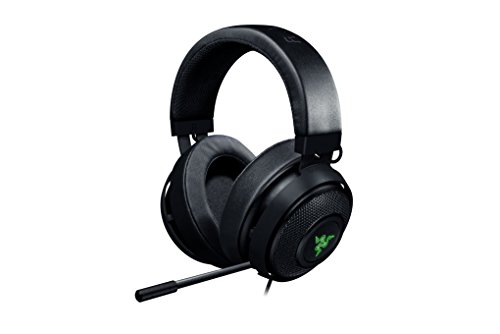 Razer Kraken 7.1 V2: 7.1 Surround Sound - Retractable Noise-Cancelling Mic - Lightweight Aluminum Frame - Gaming Headset Works with PC, PS4, Xbox One, Switch, & Mobile Devices - Black