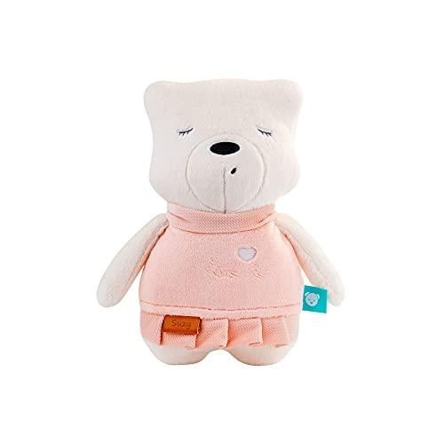 myHummy avec capteur ourson'Suzy' rose blanc premium   Peluche bruit blanc bébé   Machine à bruit blanc - battement coeur bruit des vagues   my hummy avec capteur de sommeil peluche endormissement