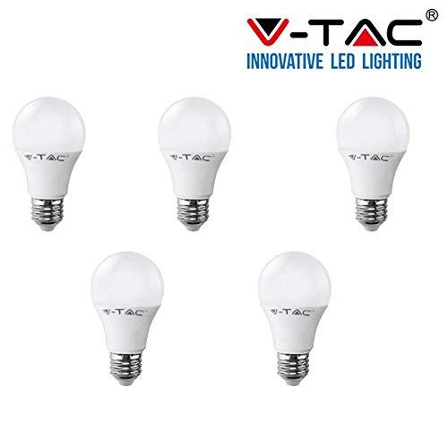 SD SHOP - 5 LAMPADINE LED E27 17W V-TAC VT-2017 LAMPADINA LAMPADA NATURALE