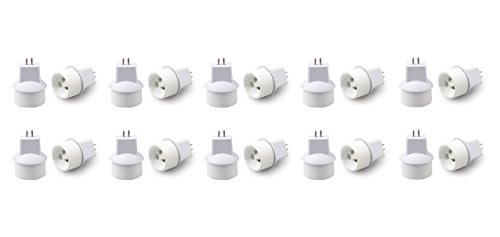 10 x MR16/GU5.3 Sockel Adapter auf GU10 Adapter Sockel Licht Adapter
